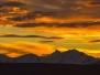 Coucher de soleil incroyable vu depuis notre chambre d'auberge à El Calafate le 2 Mai 2013